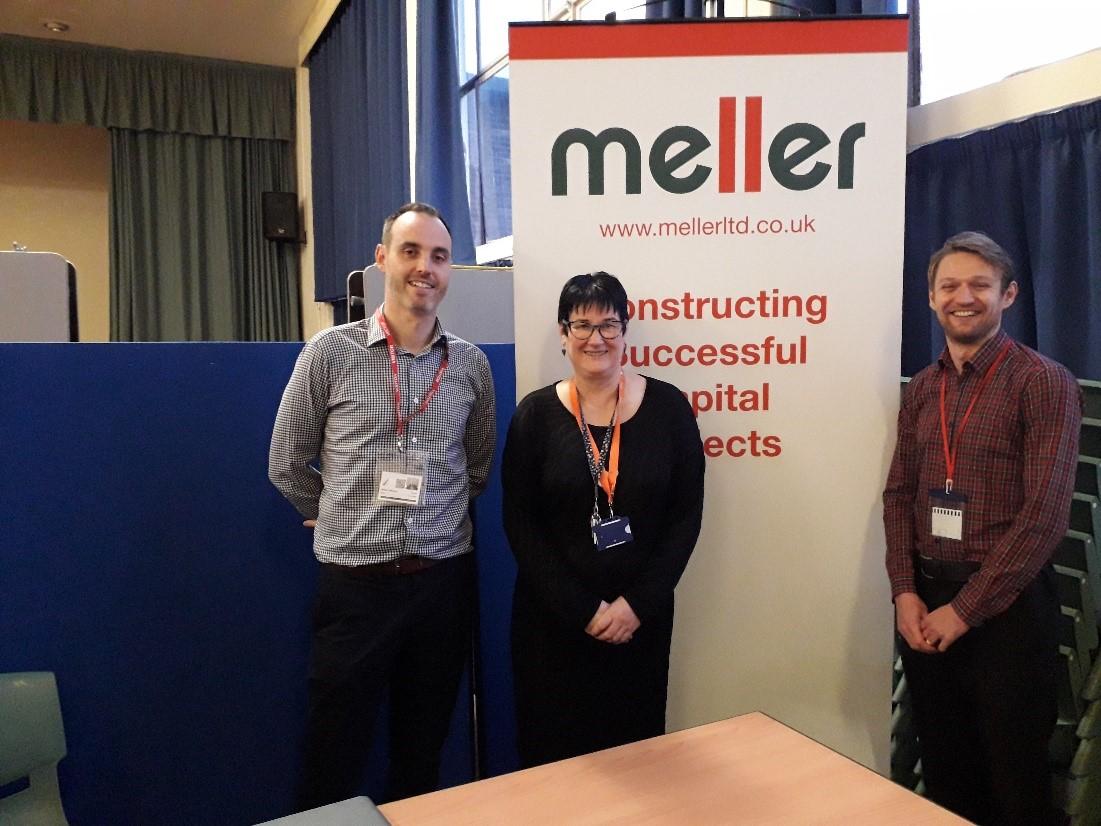 Rob Wallace (Meller Ltd), Caryn Welch (Bramcote College) and Chris Jennings (Meller Ltd)